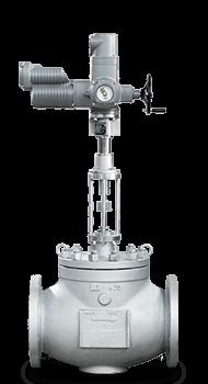 Клапан КПСР | Ду200 мм | Pn 6.3 Мпа | с электроприводом AUMA