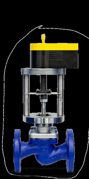 Клапан КПСР 110 | Dn 25 мм | Pn 1.6 МПа | с электроприводом